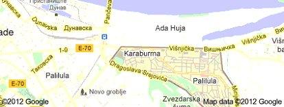 Karaburma Mapa Beograda Superjoden